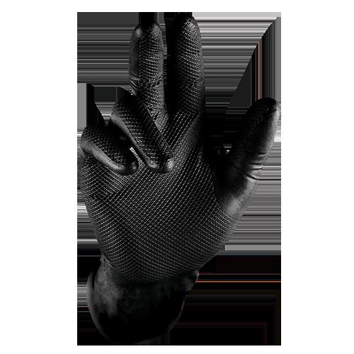 Luva Super Glove Black, Nitrílica Preta, Super Safety, CA 38645