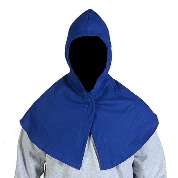Touca Arabe soldador Unitex azul com cordão