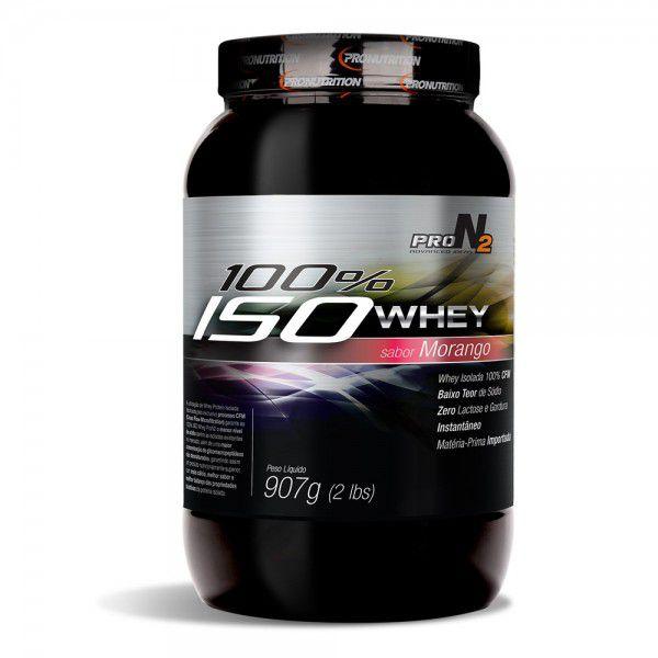 100% Iso Whey Isolado   - Morango