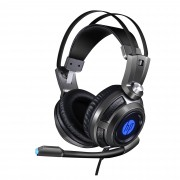 Headset Gamer USB + P2 H200 Preto HP