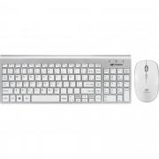 Kit Teclado + Mouse sem Fio K-W510SWH Branco/Prata C3TECH