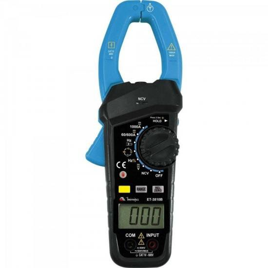 Alicate Amperímetro Digital ET3810B Azul MINIPA