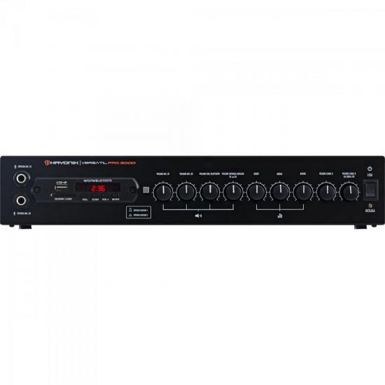 Amplificador 200W com Bluetooth VERSATIL PRO 2000 Preto HAYO