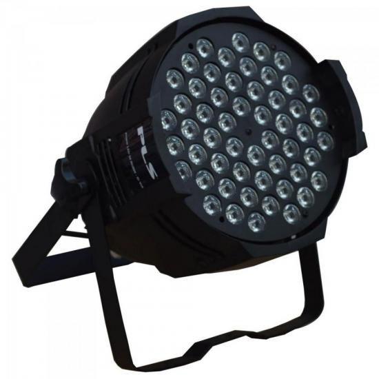 Aparelho de Iluminação 3W 54 LEDs Bivolt PROPAR RGBW Preto P