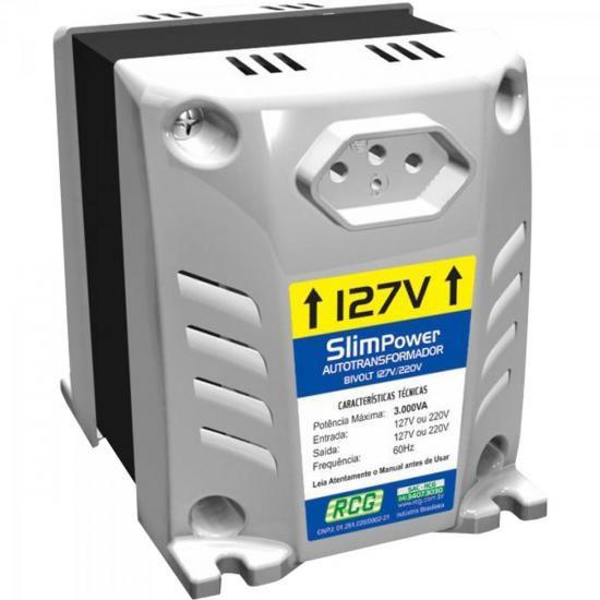 Autotransformador 127/220VAC 3000VA SLIM POWER Branco RCG