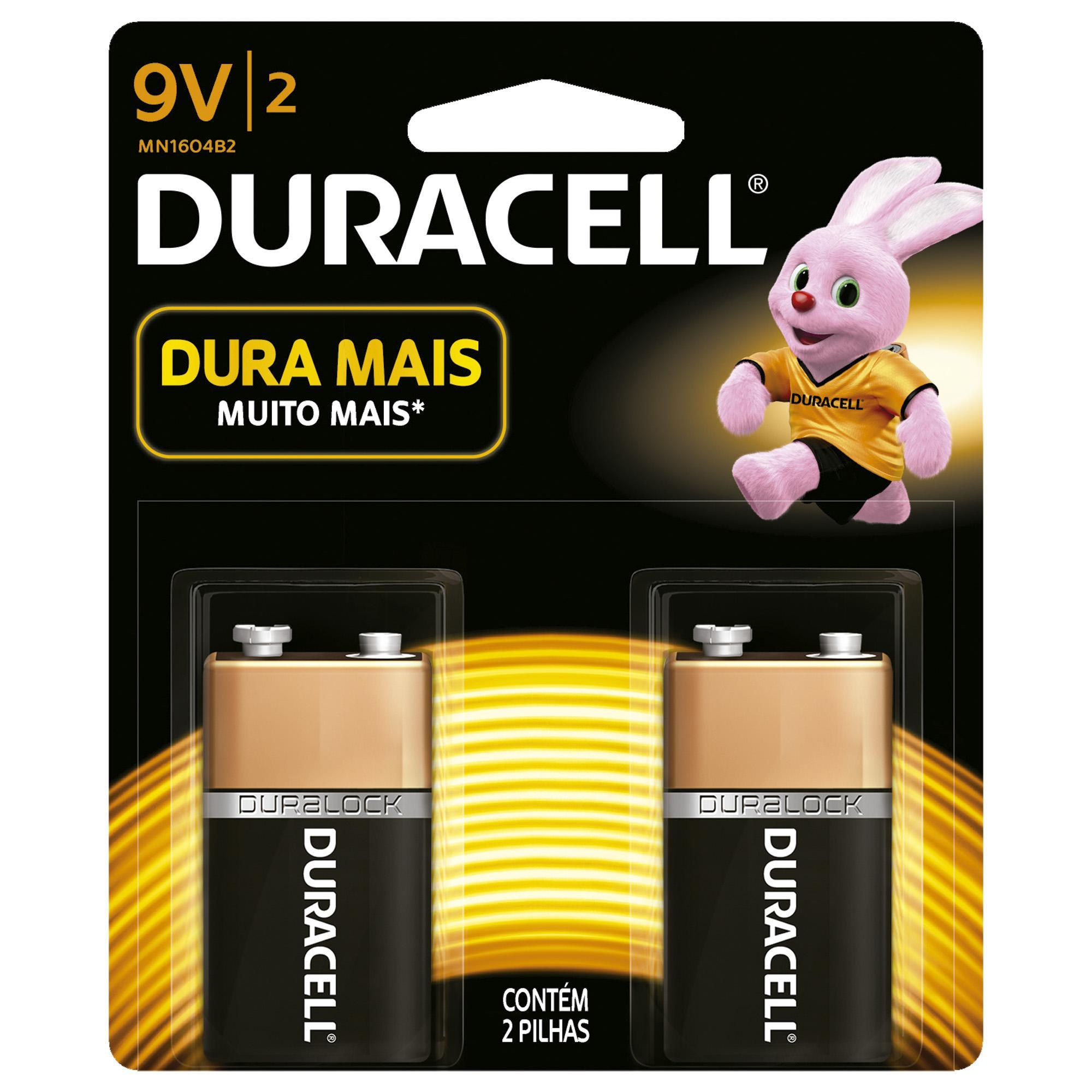 Bateria Alcalina 9V (Caixa c/24 baterias)(Cartela c/2 bateri