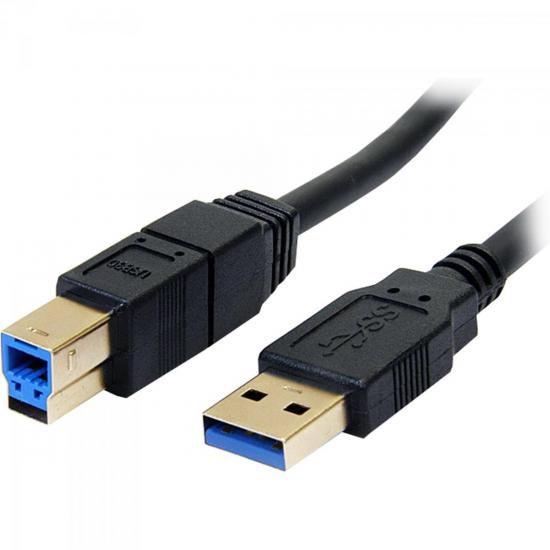 Cabo de Dados USB 3.0 A Macho x USB 3.0 B Macho 1,8m CBUS001