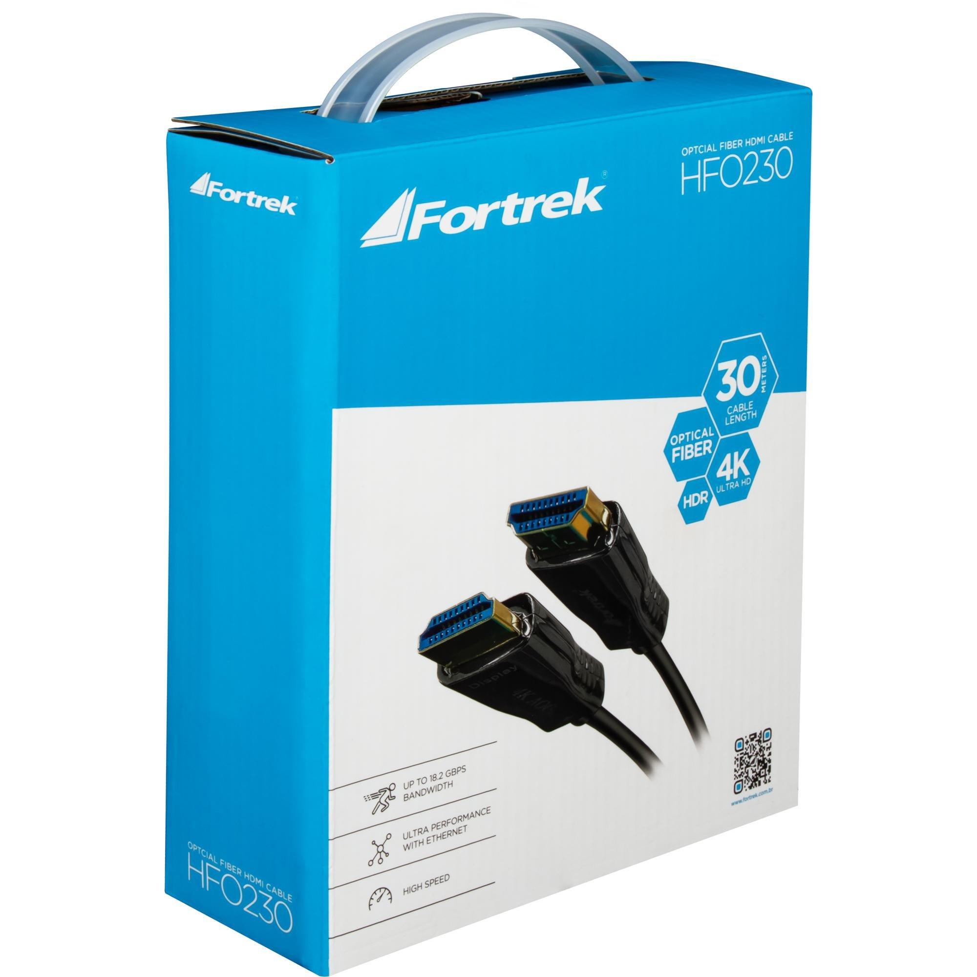Cabo HDMI Fibra Optica 2.0 4K HFO230 30M FORTREK