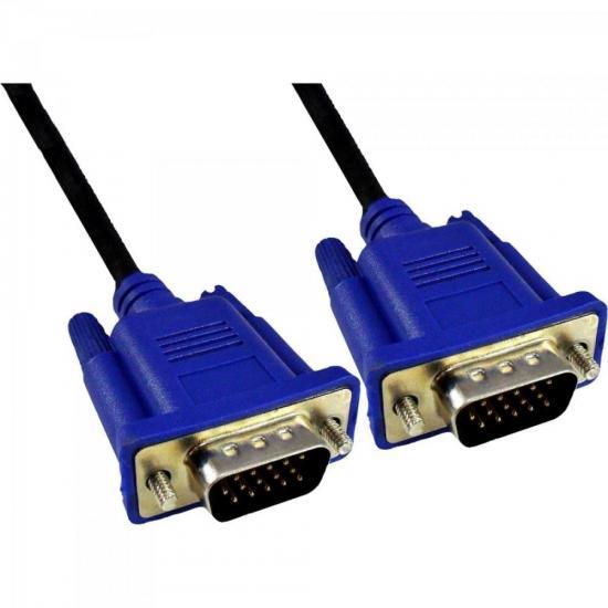 Cabo VGA Para Monitor 10m HDB15M X HDB15M CBX-MVGA100 Preto