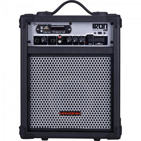 Caixa Multiuso 30W Bluetooth/USB/SD/FM IRON 200 Preta HAYONI