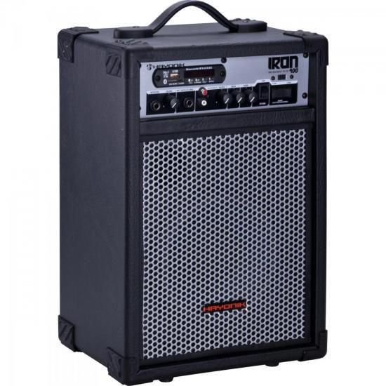 Caixa Multiuso 60W Bluetooth/USB/SD/FM IRON 400 Preta HAYONI