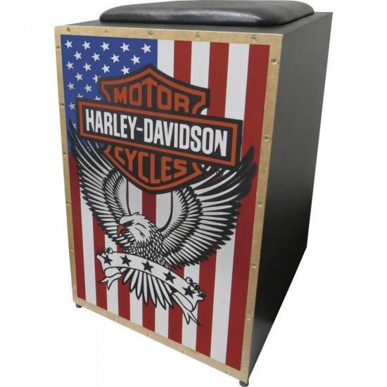 Cajon Acústico Inclinado Profissional K2 COR-005 Harley Davi