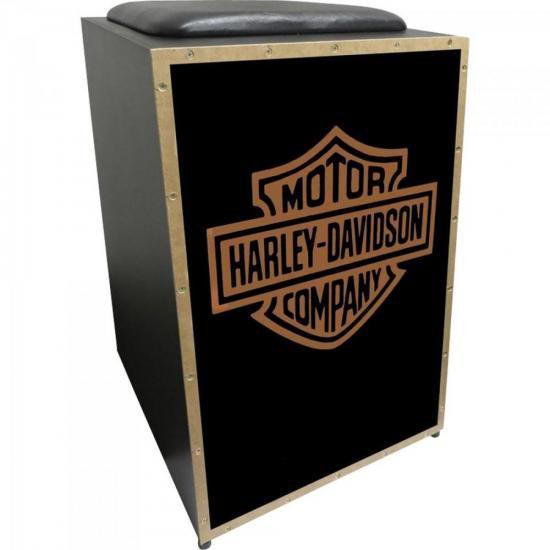 Cajon Acústico Inclinado Profissional K2 COR-007 Harley Davi