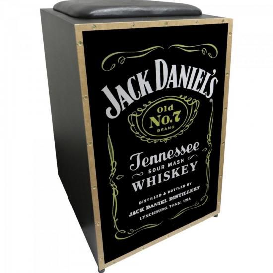 Cajon Acústico Inclinado Profissional K2 COR-008 Jack Daniel