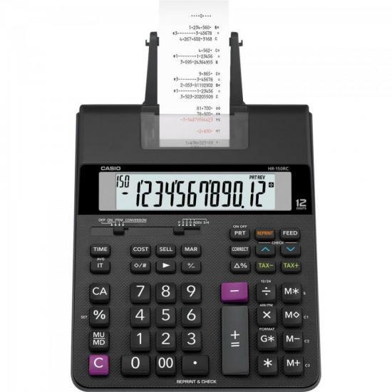 Calculadora C/ Bobina Compacta HR150RC-B Preto CASIO