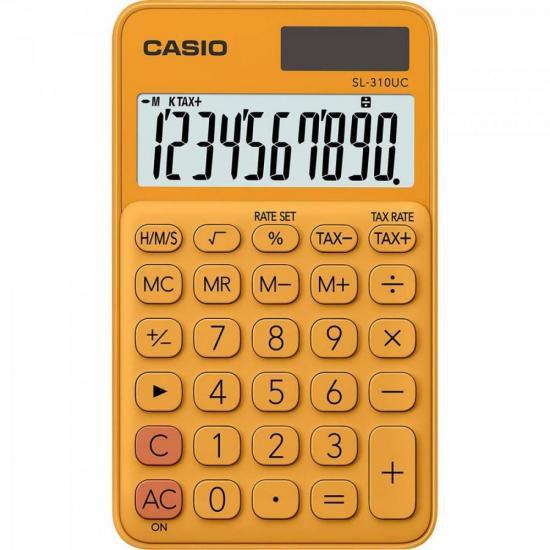Calculadora de Bolso 10 Dígitos SL-310UC-RG Laranja CASIO