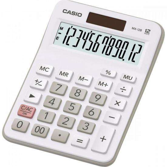 Calculadora de Mesa 12 Digitos MX12B-WE Branca CASIO