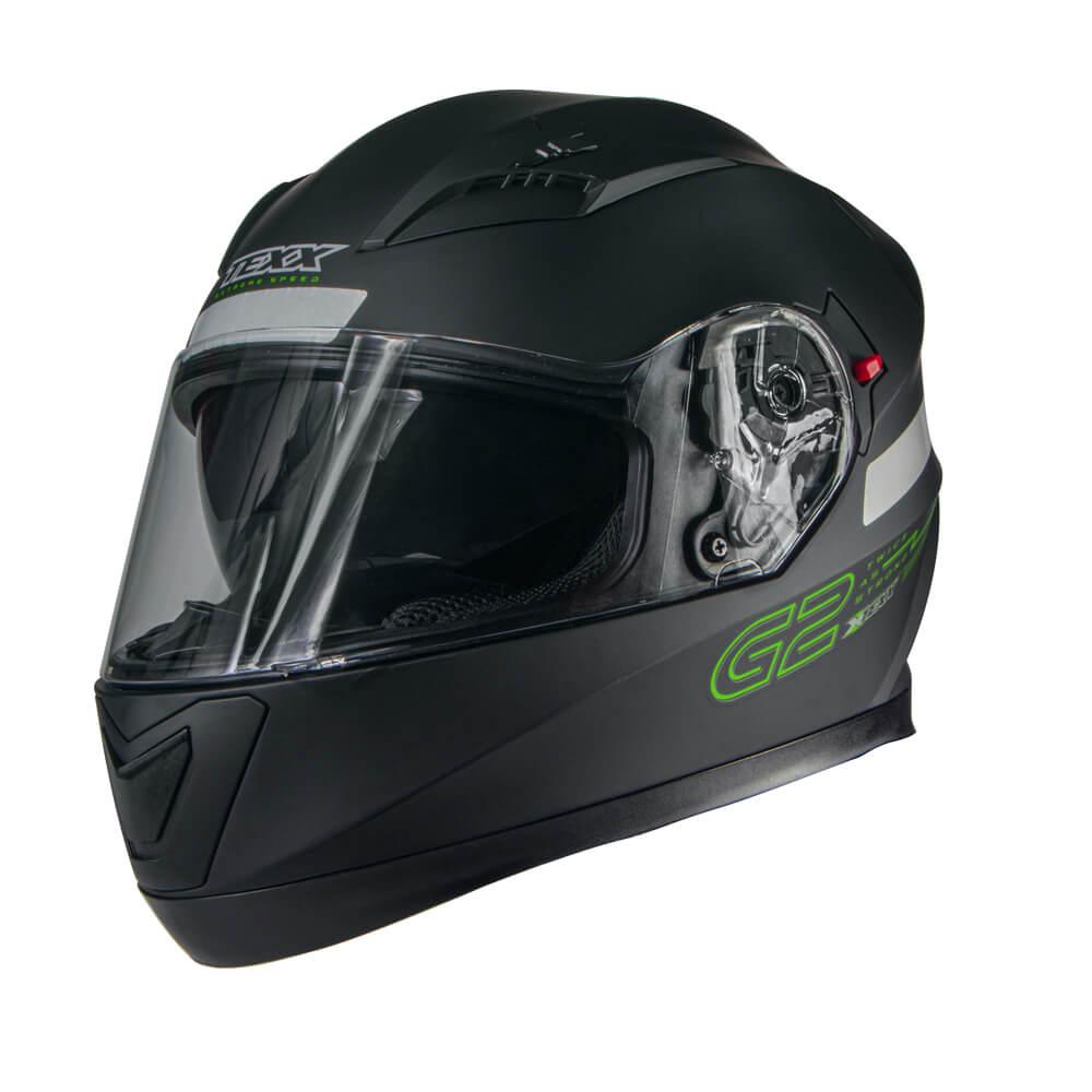 CAPACETE TEXX G2 SOLIDO PRETO/VERDE 60