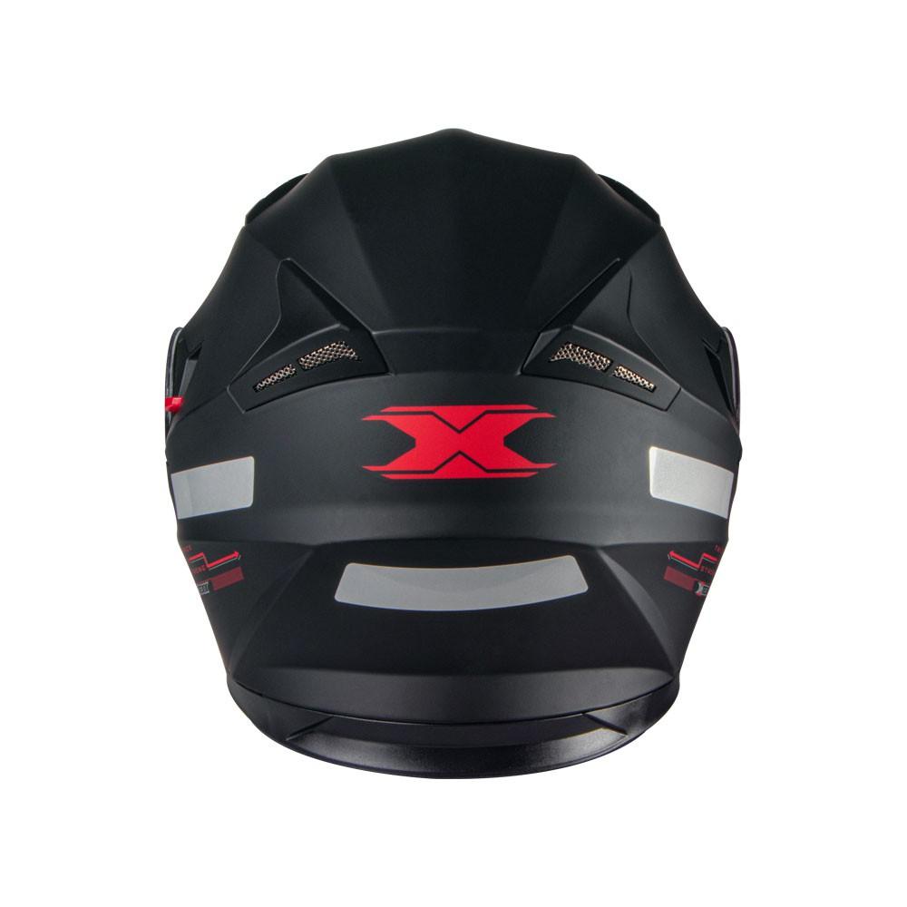 CAPACETE TEXX G2 SOLIDO PRETO/VERMELHO 61
