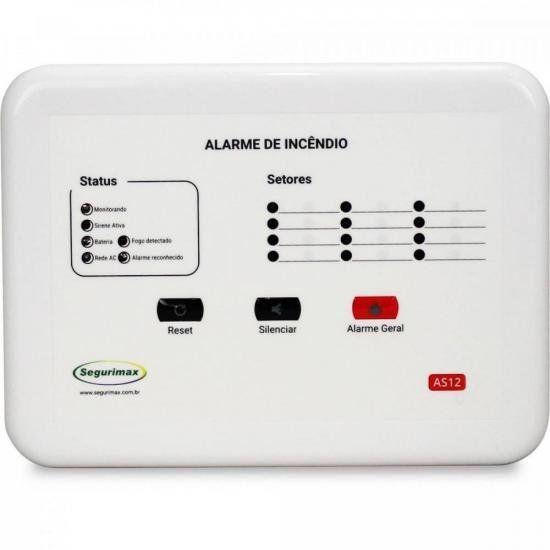 Central de Alarme de Incêndio 12 Setores 24V SEGURIMAX