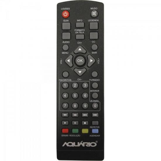 Controle Remoto Para Conversor Digital DTV-5000 Preto AQUARI