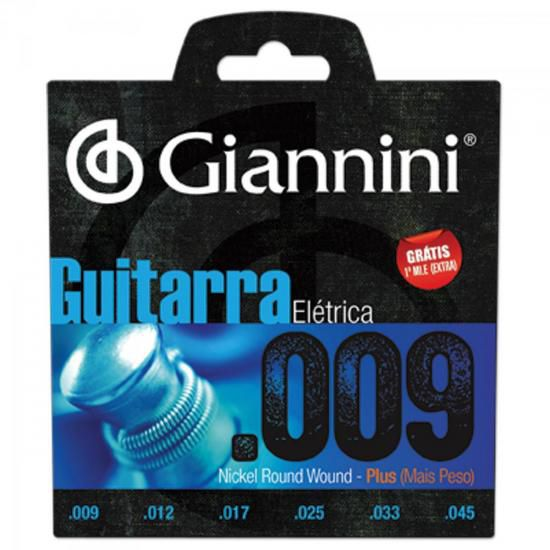 Encordoamento Para Guitarra GEEGST9 Plus 0.09 GIANNINI