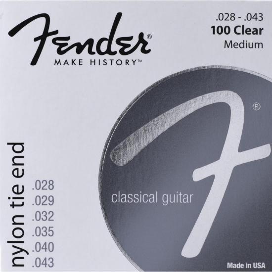 Encordoamento para Violão Nylon 0.028 100 CLEAR Prata Pura F