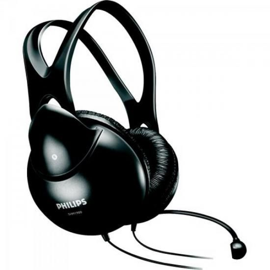 Fone de Ouvido Multimídia com Microfone SHM1900/00 Preto PHI