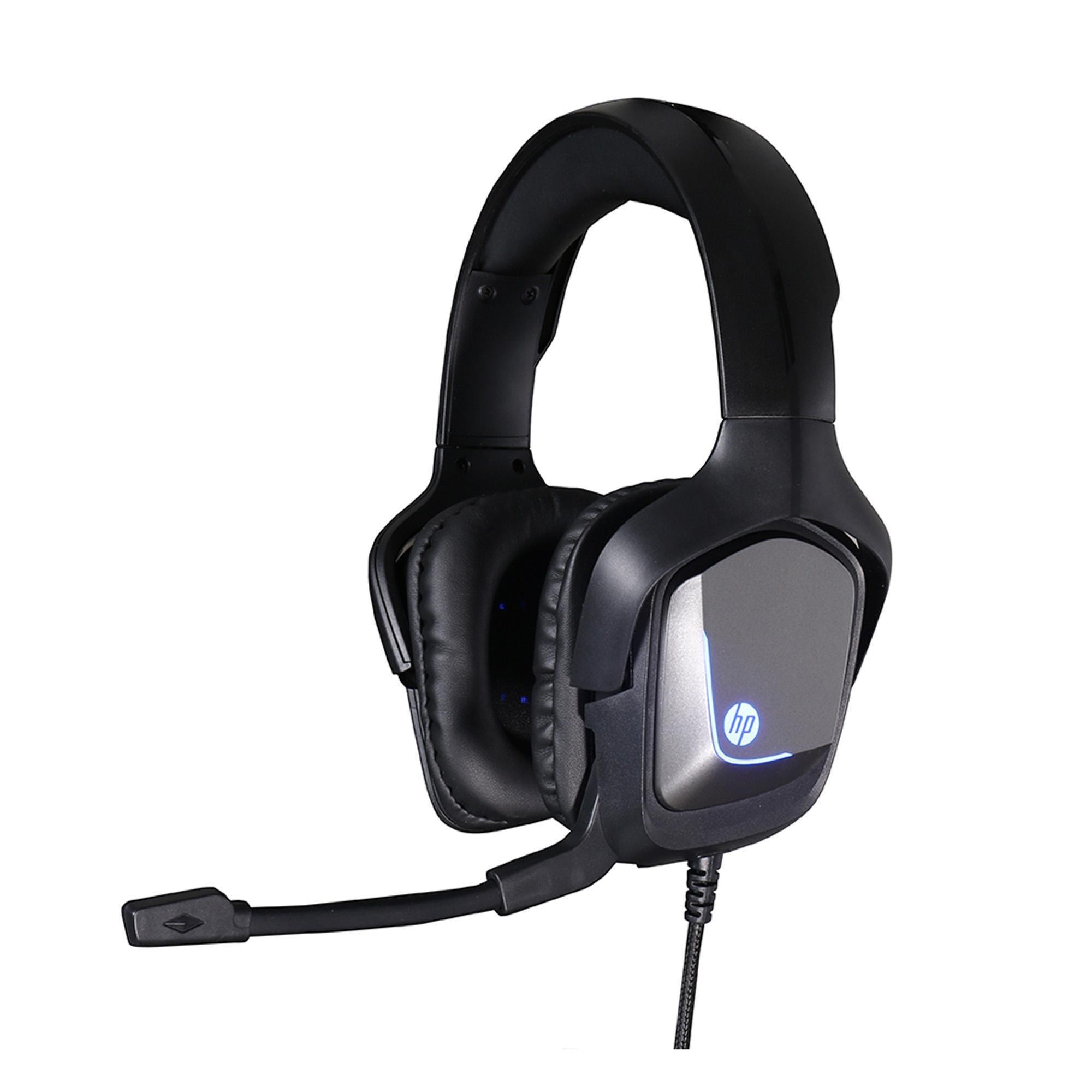 Headset Gamer USB + P2 H220 Preto HP