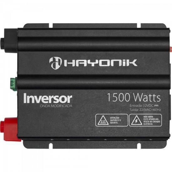 Inversor 1500W 12VDC/220V Onda Modificada Cinza Escuro HAYON