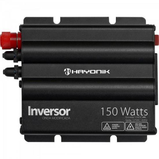Inversor 150W 12VDC/127V Onda Modificada Cinza Escuro HAYONI