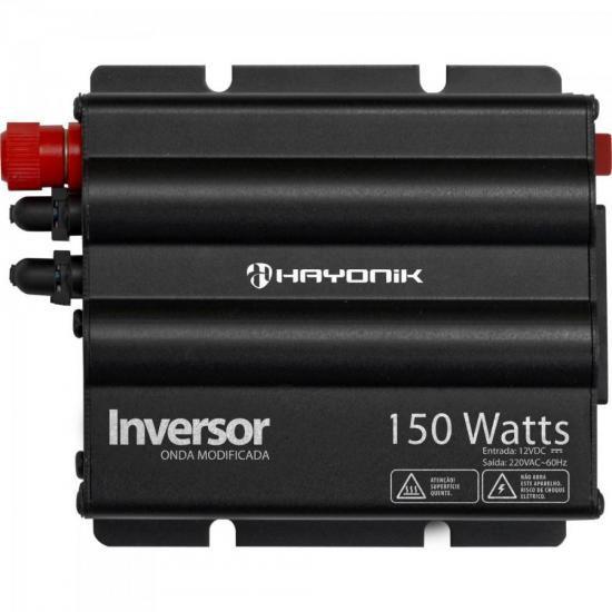Inversor 150W 12VDC/220V Onda Modificada Cinza Escuro HAYONI