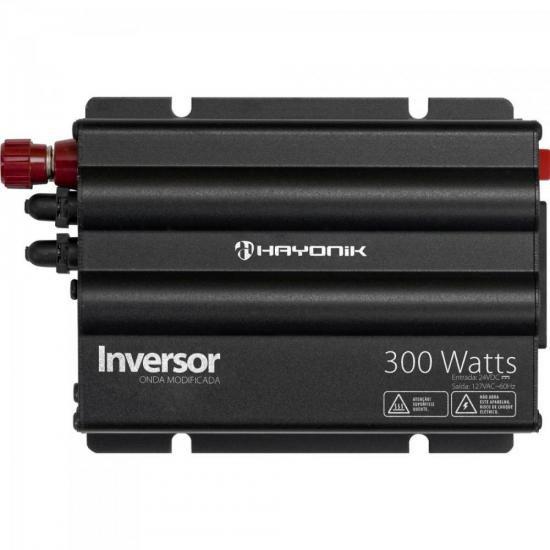 Inversor 300W 24VDC/127V Onda Modificada Cinza Escuro HAYONI