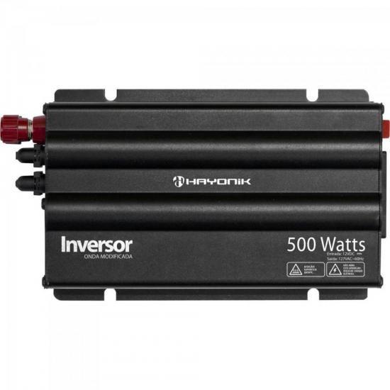 Inversor 500W 12VDC/127V Onda Modificada Cinza Escuro HAYONI