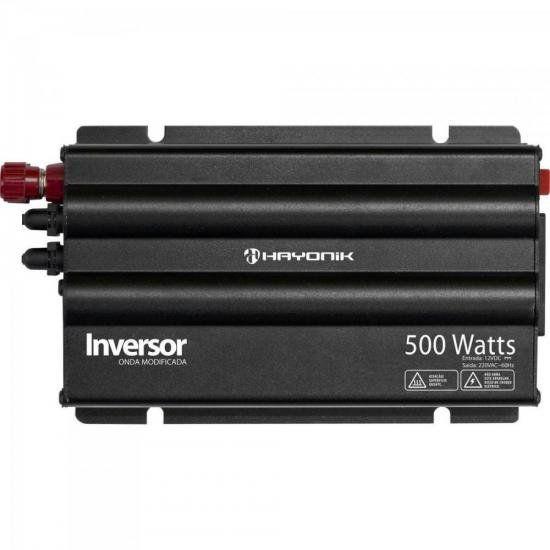 Inversor 500W 12VDC/220V Onda Modificada Cinza Escuro HAYONI