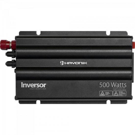 Inversor 500W 24VDC/127V Onda Modificada Cinza Escuro HAYONI