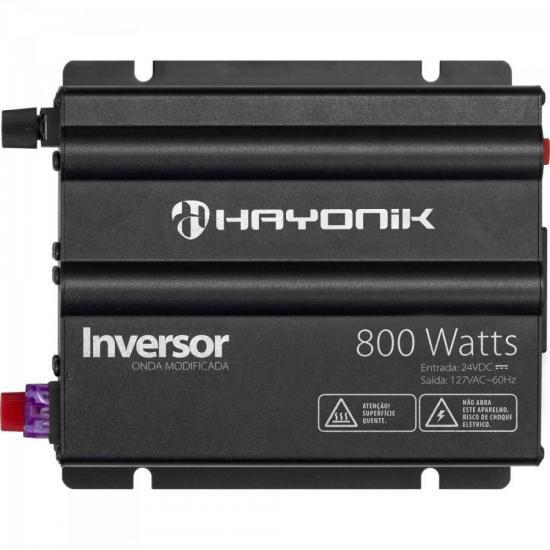 Inversor 800W 24VDC/127V Onda Modificada Cinza Escuro HAYONI