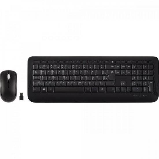 Kit Teclado + Mouse sem Fio USB 850 Preto MICROSOFT