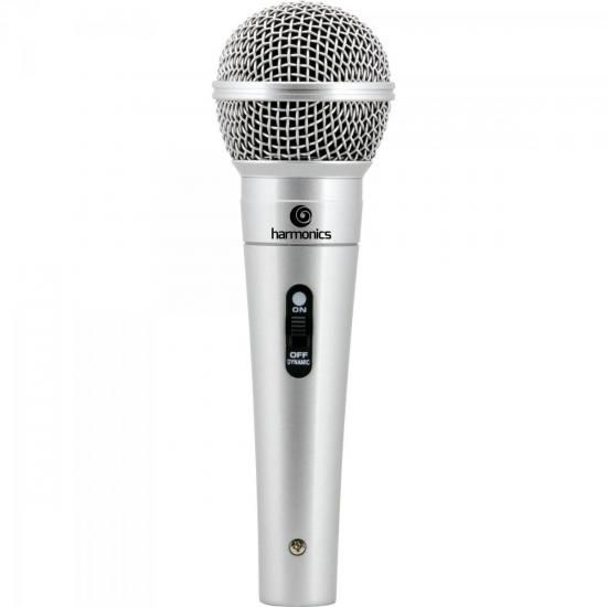 Microfone Dinâmico Supercardióide Cabo 4,5m MDC201 Prata HAR
