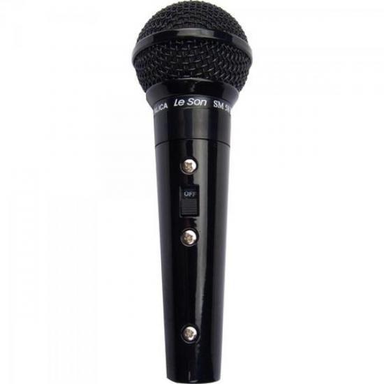 Microfone Profissional Com Fio Cardióide Preto Metálico SM58