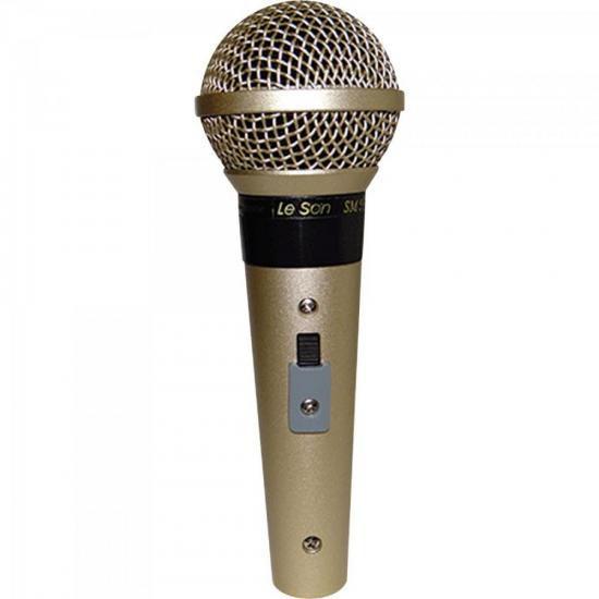 Microfone Profissional Com Fio Cardióide SM58 P4 Champanhe L