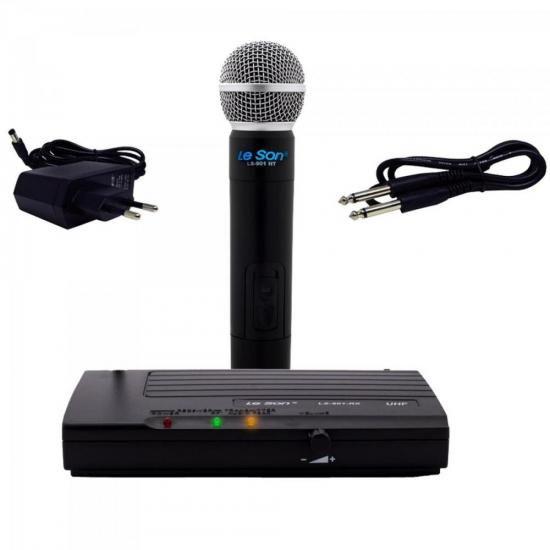 Microfone S/ Fio Fonte Bivolt LS901HT Preto LESON