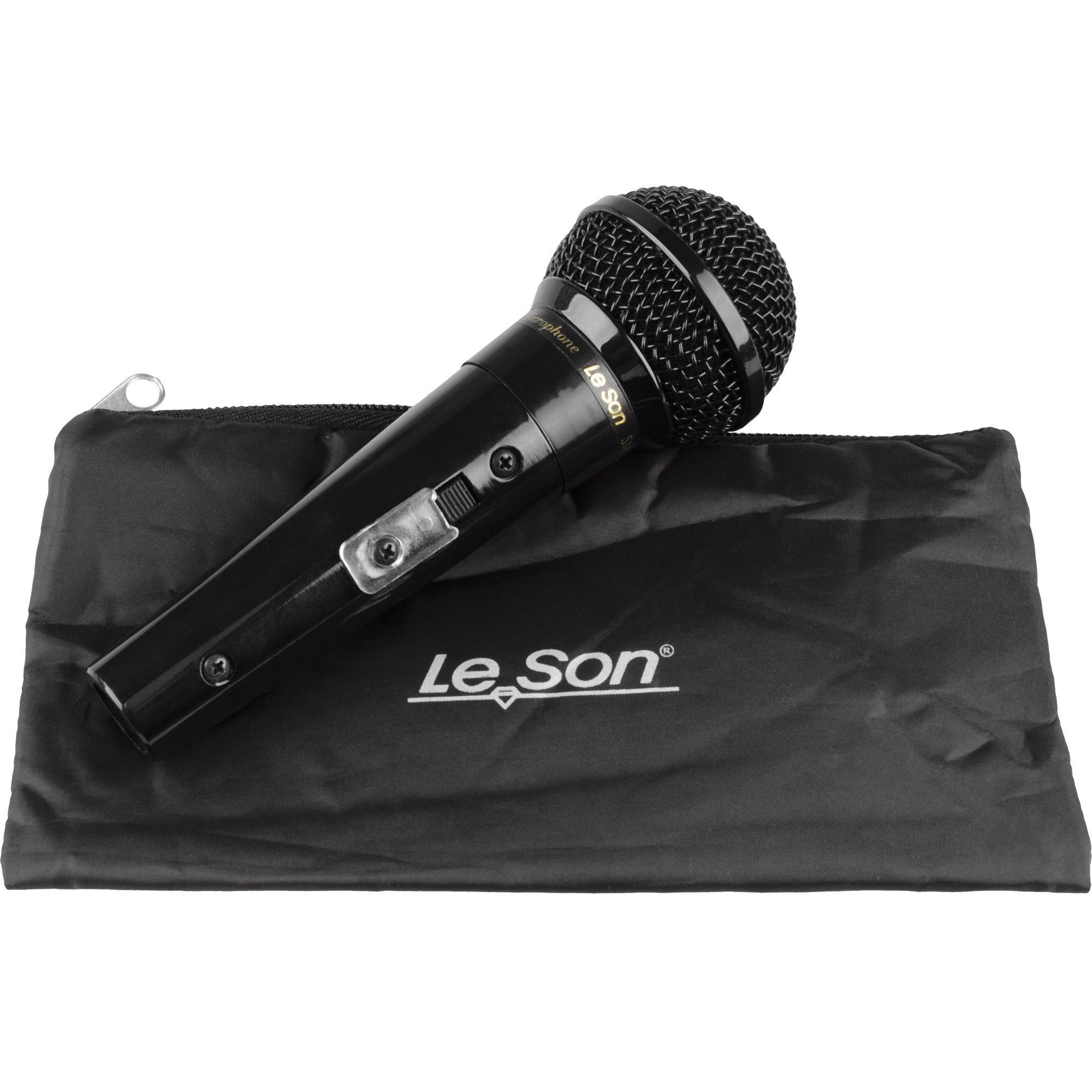 Microfone SM58 P4 Preto Brilhante LESON