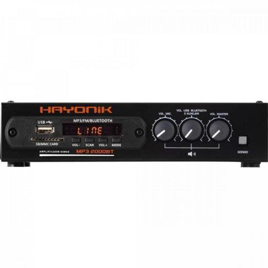 Módulo Pré Amplificador c/ Gongo FM/USB/MP3/Bluetooth MP3 20
