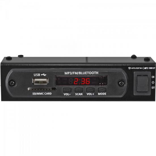Módulo Pré Amplificador FM/USB/MP3/Bluetooth 1000BT Preto HA