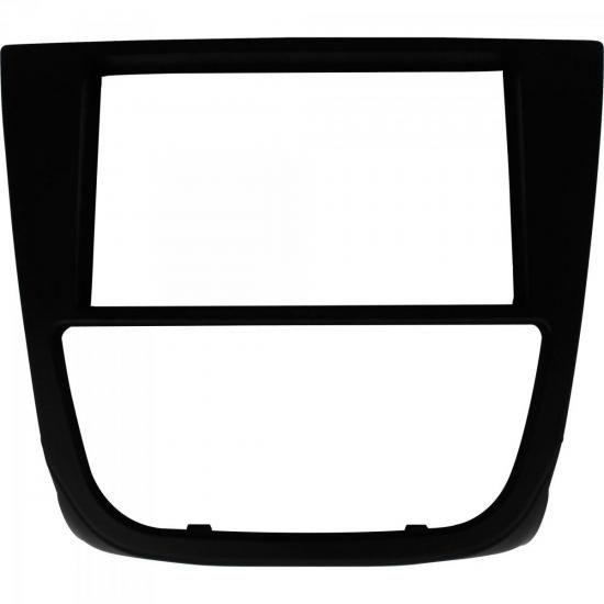 Moldura para Volkswagen Gol G5 2Din com Botão Preta LUDOVICO