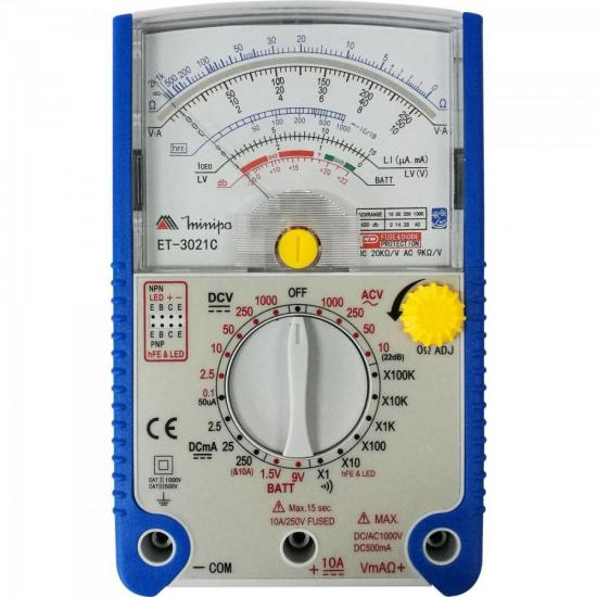 Multímetro Analógico ET-3021C Azul MINIPA