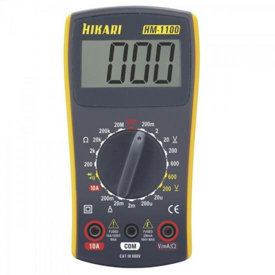 Multímetro Digital HM1100 Amarelo/Cinza HIKARI