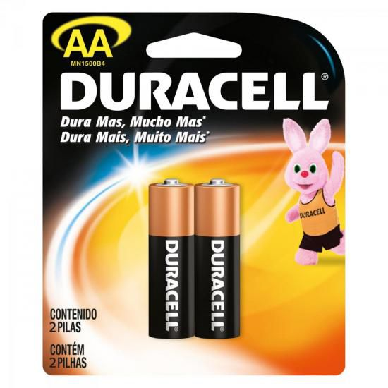 Pilha Alcalina AA MN1500 Duracell Caixa c/24 pilhas (cartela