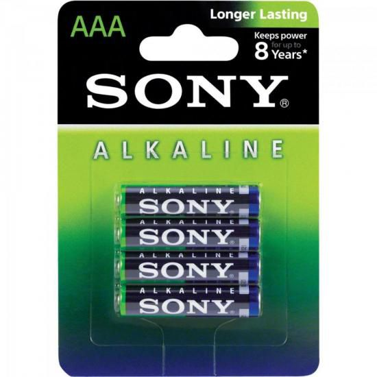 Pilha Alcalina AAA AM4L-B4D Sony Caixa c/48 pilhas (cartela